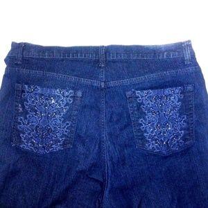 Gloria Vanderbilt Denim shorts /capris embroidered